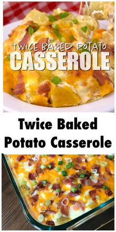 Loaded Baked Potato Casserole, Baked Potato Recipes, Potatoe Casserole Recipes, Twice Baked Potatoe Recipe, Twice Baked Potato Casserole Recipe With Cream Cheese, Potatoes With Cream Cheese, Hashbrown Potato Casserole, Stuff Pepper Casserole, Sour Cream Chicken Casserole