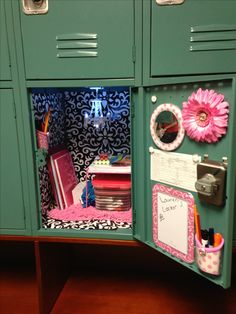 Locker Decoration Ideas image of: blue diy locker decorations | middle school locker