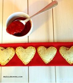 Paleo Pop Tarts- For the strawberry filling: •1 and ½ cups frozen strawberries (about 12 strawberries), •1 and ½ tbs water. For the dough: •1 and ½ cups almond flour, •¼ cup coconut oil melted, •1 medium banana (1/3 cup), •Dash of salt
