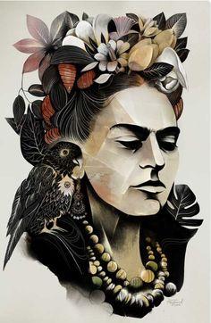 Frida - alexey kurbatov karikatür - portre frida kahlo, illustration ve ume Diego Rivera, Frida E Diego, Art Fauvisme, Art Amour, Street Art, Wall Street, Graffiti Tattoo, Art Design, Graphic Design