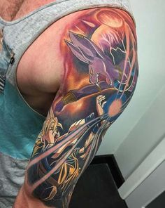 The biggest gallery of Dragon Ball Z tattoos and sleeves, with a great character selection from Goku to Shenron and even the Dragon Balls themselves. Cartoon Tattoos, Anime Tattoos, Body Tattoos, Tribal Tattoos, Sleeve Tattoos, Tatoos, Dragon Ball Z, Z Tattoo, Color Tattoo