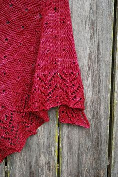 Raindrops on Roses Shawl by IrishGirlieKnit. She must like Sound of Music.