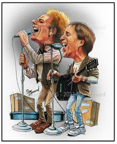 Simon And Garfunkel Limited Edition Celebrity Caricature by Don Howard