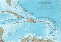 Caribbean - Situated largely on the Caribbean Sea the region comprises more than 700 islands, islets, reefs, and cays. The Caribbean islands, consisting of the Greater Antilles on the north and the Lesser Antilles on the south and east (including the Leeward Antilles), are part of the somewhat larger West Indies grouping, which also includes the Lucayan Archipelago (comprising the Bahamas and Turks and Caicos Islands) north of the Greater Antilles and Caribbean Sea.