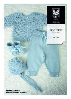 Hentesett Finnes flere mønster her Crochet Baby Mittens, Baby Booties Knitting Pattern, Baby Boy Knitting, Knit Baby Sweaters, Baby Knitting Patterns, Baby Patterns, Baby Leggings Pattern, Baby Sweater Patterns, Baby Overalls