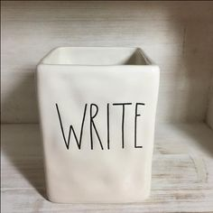 Rae Dunn Write Pencil Holder - Office Decor