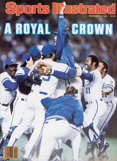 A flashback to 30 years ago, the last time the KC Royals won the World Series! The Sports Illustrated cover for the 1985 World Series Champions.