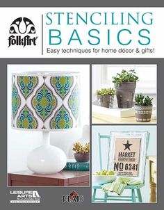 Discover how easy it is to stencil unique projects for home decor and gifts! Presenting stylish projects for wood, metal, fabric, glass, and other surfaces, Stenciling Basics from Leisure Arts introduces you to the tools and techniques you need to get started on a fulfilling new hobby. #leisurearts #stencilingbasics #stenciling #diy #bestonlineshoppingwebsites