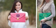 Poppy & Pine Monogrammed Crossbody Clutch in 11 Colors!! | Jane