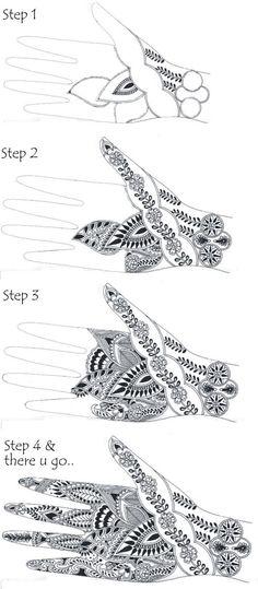 Simple Mehndi Designs Hands Step Step