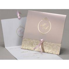 Faire part mariage « Délicatesse » Rose EC-M24-003-R More