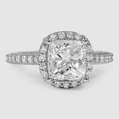 The perfect cushion-cut halo engagement ring.