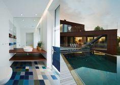 DAPstockholm Architects...dig the bathroom colors.