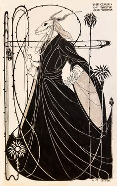 """:: """"The Curse of Thistle and Thorn"""" : The Magus : The Ancient Magus' Bride :: Kritzelei Tattoo, Tattoos, Chise Hatori, Elias Ainsworth, Train Drawing, The Ancient Magus Bride, Dark Art Drawings, Mythical Creatures Art, Demon Art"""