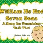 Free until sunday, January 19 at 9 pm CST - This file contains slides for the folk song William He Had Seven Sons. This song helps to reinforce the difference between beat and rhythm, while a...
