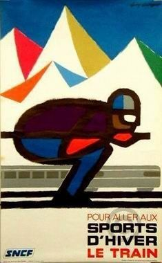 Sports d'Hiver sncf poster by Georget Guy