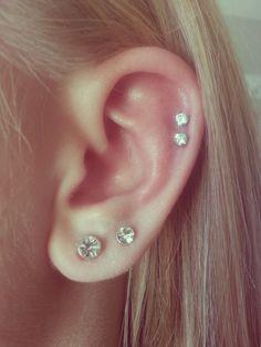 I randomly got my ears pierced today ✌️