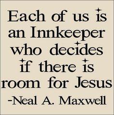Room for Jesus?