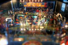 Lord of the Rings Pinball - nice reflective pic