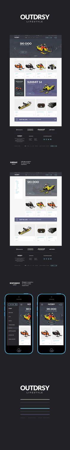 OUTDRSY e-commerce website on Behance