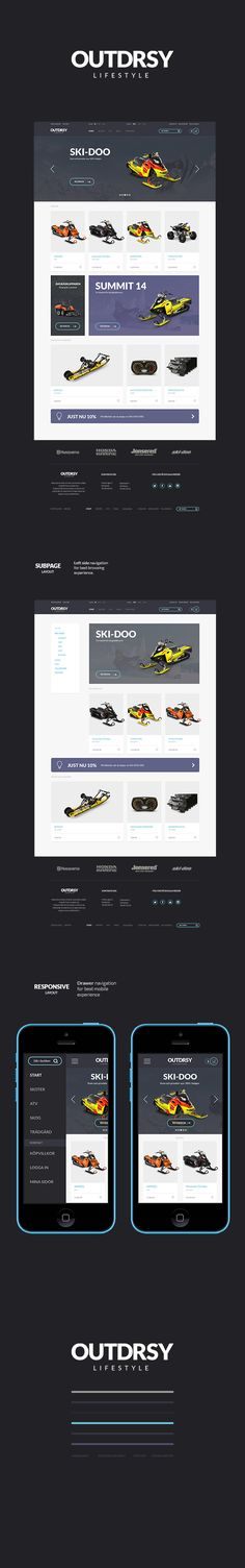 OUTDRSY e-commerce website on Behance