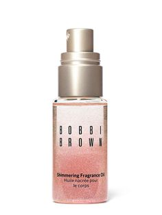 This travel-size fragrance body oil contains rose gold glitter to show off bare shoulders and legs