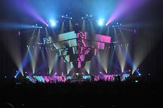 "bellvmy: "" ""Muse tour stages from The Resistance to Drones "" "" Bühnen Design, Event Design, Game Design, Muse Live, Concert Stage Design, Dj Stage, Stage Set Design, Scenic Design, Anos 80"