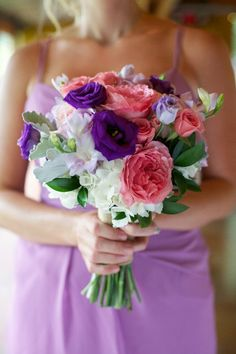 Lavender and pink bouquet, photographed by http://www.liveviewstudios.com, via http://theeverylastdetail.com/a-rustic-lavender-north-carolina-wedding/