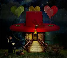 Love it...a little Mad Hatter, and a little Red Hat meaning!