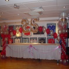 How To Throw A Great 25th Anniversary Party even though red is my favorite color I : 25th wedding anniversary party decorating ideas - www.pureclipart.com