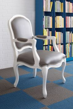 stick around arm chair...thinking this might be the way to redo my two mismatched chairs...gloss with with faux leather seat and back