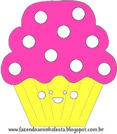 Pink e Amarelo – Kit Completo com molduras para convites, rótulos para guloseimas, lembrancinhas e imagens! |Fazendo a Nossa Festa