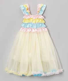 Pale Pink & Blue Ruffle Babydoll Dress - Infant, Toddler & Girls by Royal Gem #zulily #zulilyfinds