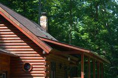 Cabin front corner