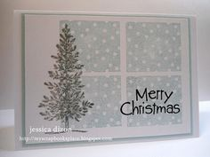 Merry Christmas-lovely as a tree and background sampler