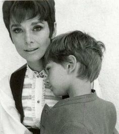 Audrey with her son Luca