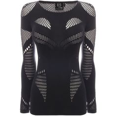 Mesh Knit Jersey Top McQ (820 PLN) ❤ liked on Polyvore featuring tops, jesy, mcq, alexander mcqueen, dresses, jersey knit tops, mcq by alexander mcqueen, mesh top and knit jersey