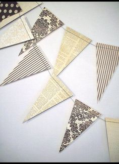 Vintage Style Party Garland -- 6 ft.  //  Vintage Wedding Garland // Shabby Chic Decor // Vintage Baby Shower // French Style Party //. $7.95, via Etsy.