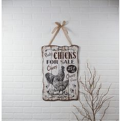 71829 CHICKS FOR SALE ADVERTISING SIGN