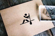 Paddleboard Stamp - Surf Rubber Stamp - Surf Stamp - Ship Rubber Stamp