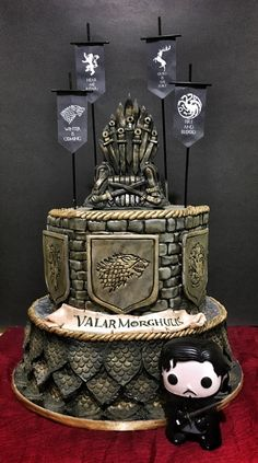 Pastel de Juego de Tronos # cupcakes # cupcakes - Game of thrones cake - Game Of Thrones Kuchen, Bolo Game Of Thrones, Game Of Thrones Food, Game Of Thrones Funny, Game Of Thrones Drawings, Game Of Thrones Tattoo, Game Of Thrones Birthday Cake, Gateau Harry Potter, Game Of Trones