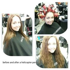 Helicopter perm before and after