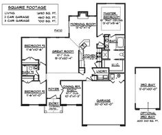 Simple house plans with great room 1500 sq ft house for House plans 1500 to 2000 square feet