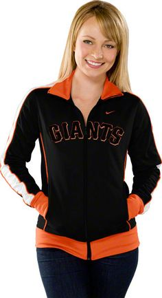 San Francisco Giants Women's Black 3-2 Track Jacket #sfgiants >> @bellarogue32