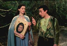 Ella Enchanted (2004) with Anne Hathaway as Ella. #CostumeDesign: Ruth Myers - with her talking book