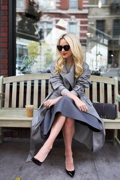 Rebecca Minkoff coat and JW Anderson skirt