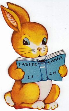 Funny retro bunny for Easter!
