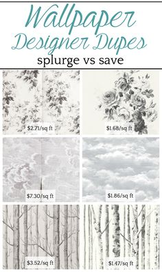 Wallpaper Designer Dupes: Splurge vs. Save | A round-up shopping guide with 14 of the most popular designer wallpapers and their cheaper dupes to get the look for less. #wallpaper