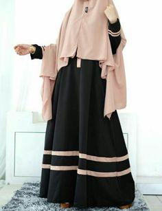 Hijab Fashion Summer, Niqab Fashion, Girl Fashion, Womens Fashion, Muslim Women Fashion, Islamic Fashion, Muslim Dress, Hijab Dress, Moslem Fashion