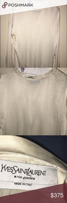 Men's shirt Men's designer shirt 100 silk in excellent condition . Ives Saint Laurant  Shirts